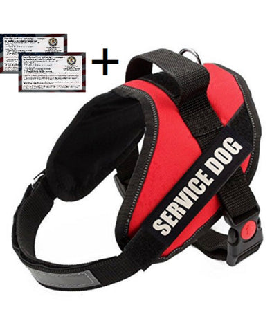 Service Dog Vest Harness, Red, Black All Sizes