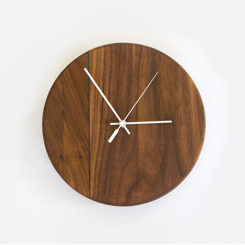 Walnut and Reclaimed Oak Wall Clock