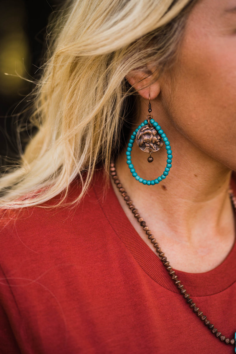 Indian Charm Earrings Copper by West & Co.