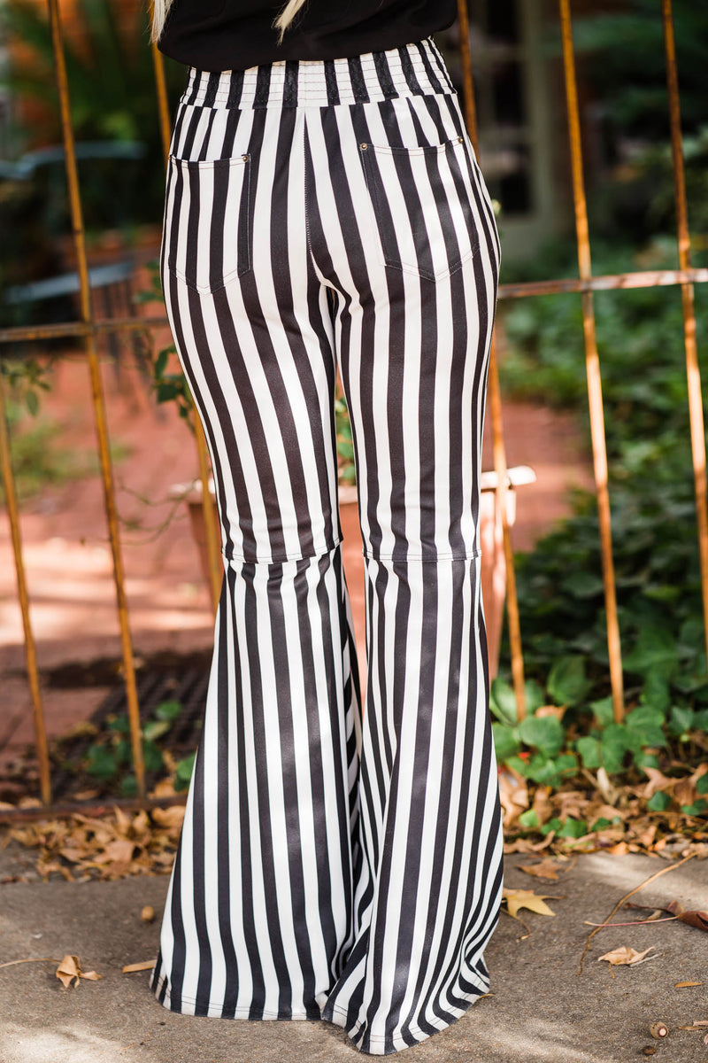 Black/White Stripe Flares