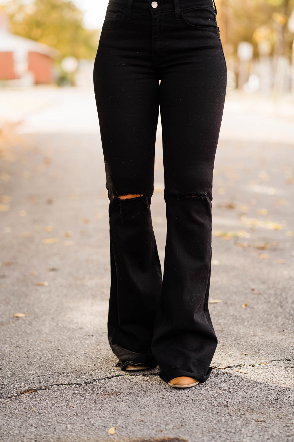 Black High Waist Bell Bottoms
