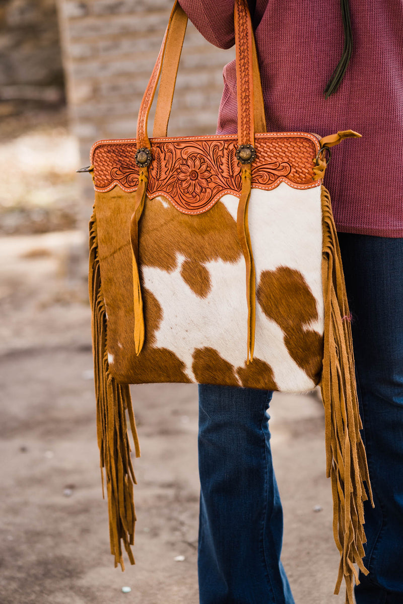 Till The Cows Come Home Fringe Purse