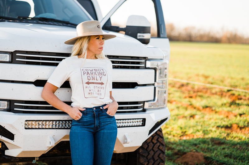 Cowboy Parkin' Only Tee