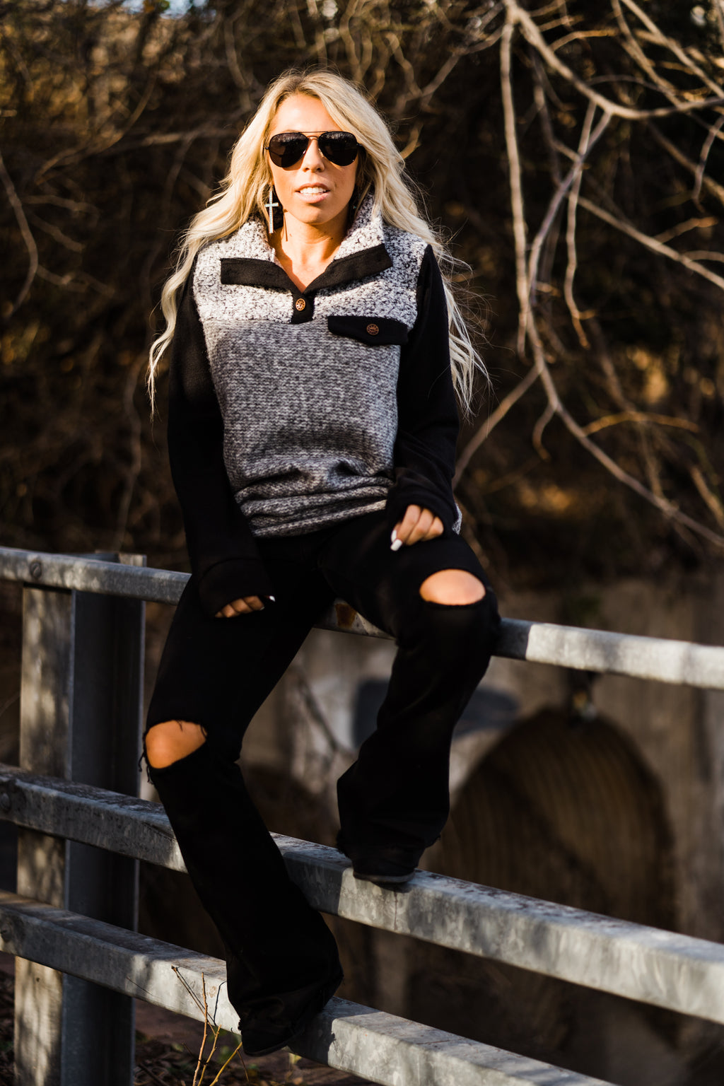 Western Pullover Sweater
