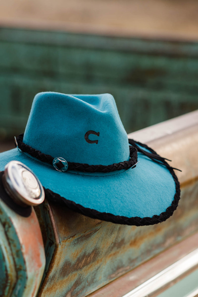 CHARLIE 1 HORSE HAT HIGHWAY W/ LEATHER CROWN