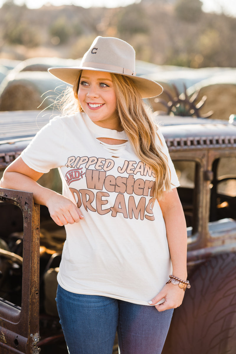Ripped Jeans & Western Dreams Tee