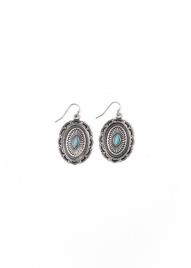 Concho Turquoise Earrings by West & Co.