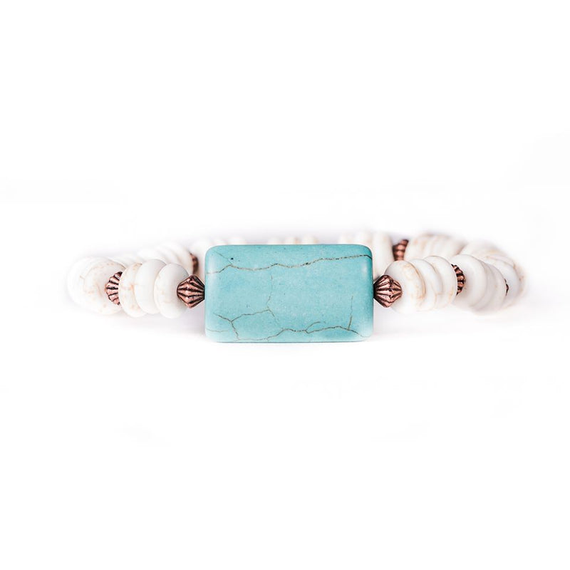 Copper and Turquoise Bracelet by West & Co.