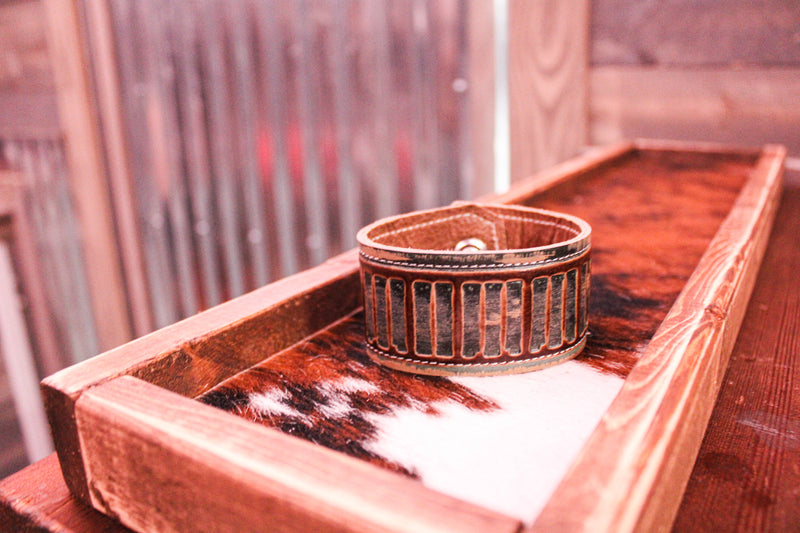 Brown Leather Cuff