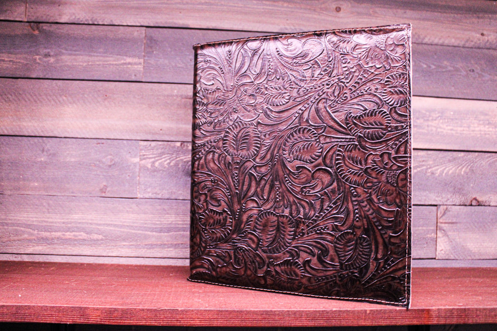 Customized Leather 3 Ring Binder Cover-#2