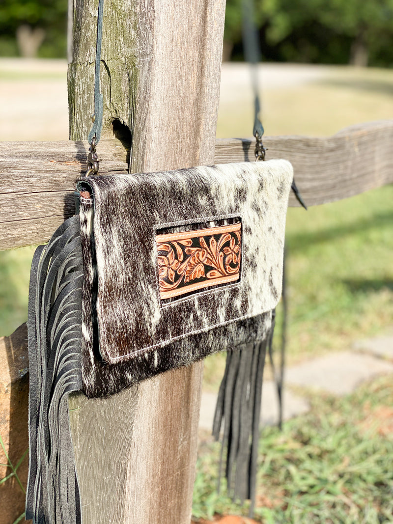 Turn & Burn Cowhide Purse