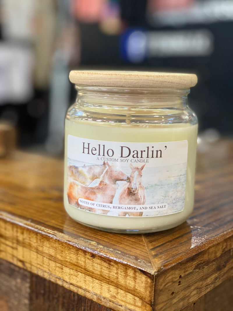 Hello Darlin Candle