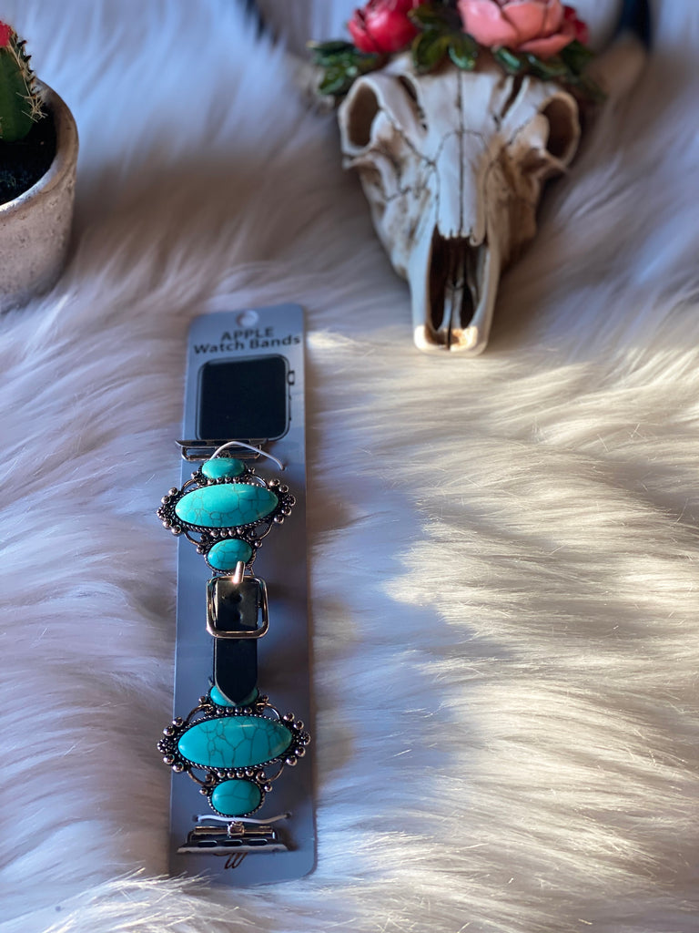Black/ Turquoise watch band