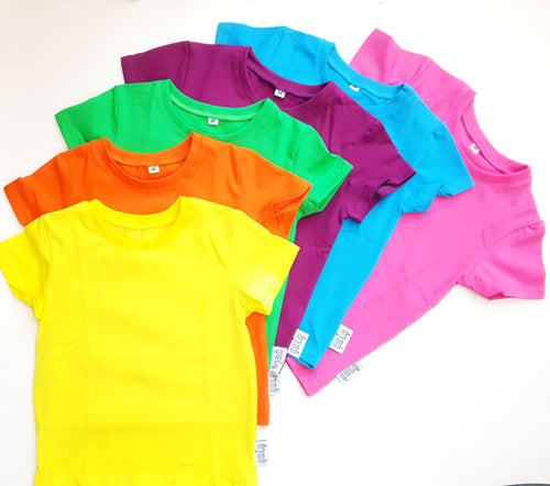 Rainbow basics - short sleeve t-shirt