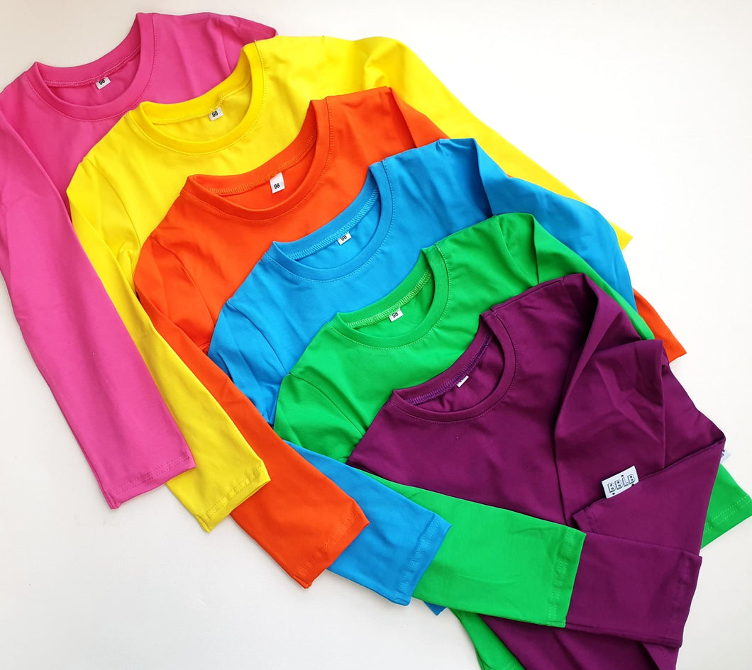 Rainbow basics - long sleeve t-shirt
