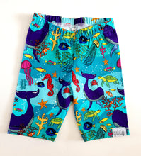 Load image into Gallery viewer, Under the sea above knee  shorts