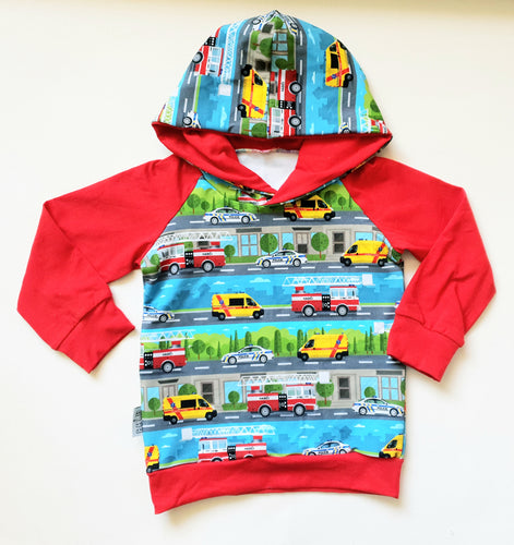 Emergency vehicles hoodie