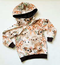 Load image into Gallery viewer, Woodland animals hoodie