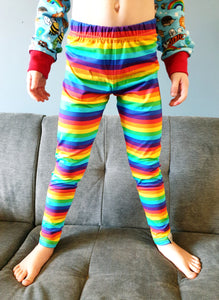 Slim fit leggings Rainbow stripe