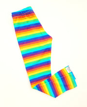 Load image into Gallery viewer, Slim fit leggings Rainbow stripe