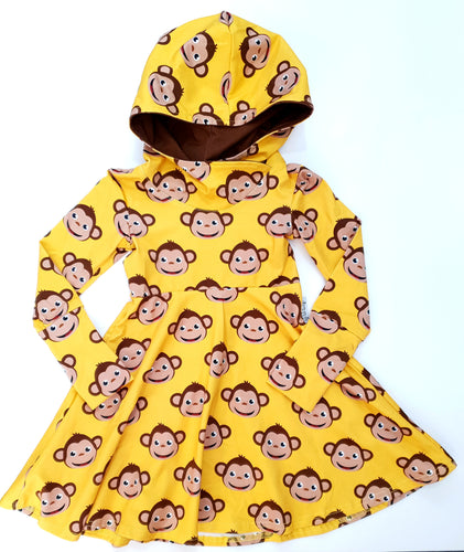 Monkey grow with me dress