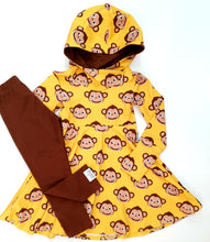 Load image into Gallery viewer, Chocolate brown grow with me leggings - Monkey match