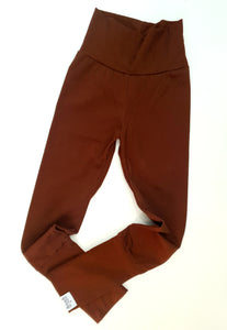 Chocolate brown grow with me leggings - Monkey match
