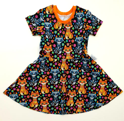 Rainbow fox dress