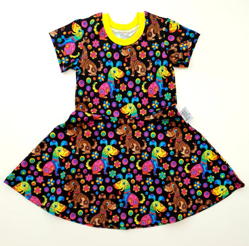 Rainbow dog dress