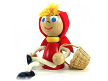 Load image into Gallery viewer, Wooden figure - Little red riding hood