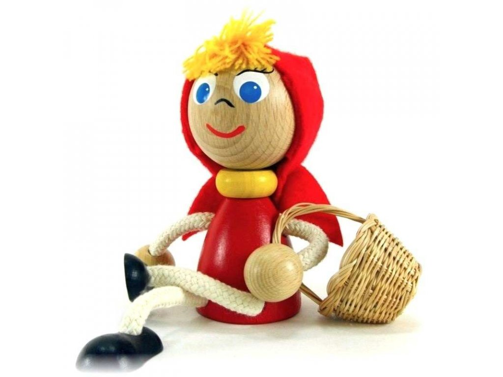 Wooden figure - Little red riding hood