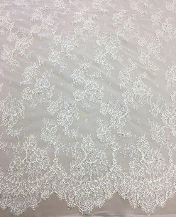 Fine corded lace (1304) Ivory