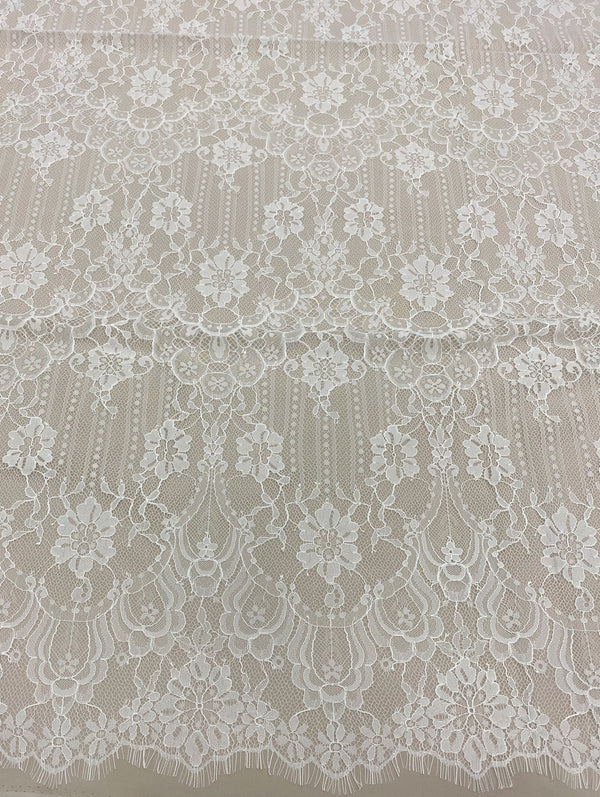 Fine corded lace (1305) Ivory