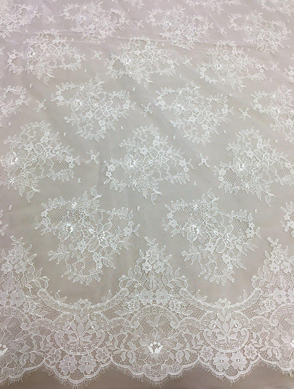 Fine floral lace (1323) Ivory
