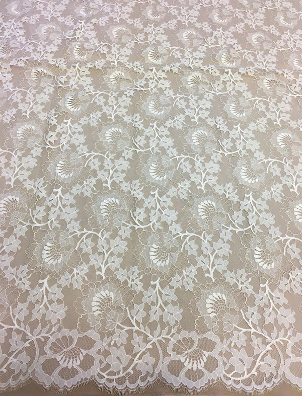 Fine Floral Lace (1428) Ivory