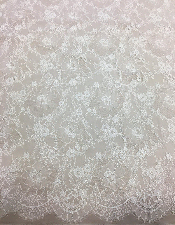 Fine Floral Lace (1485) Ivory