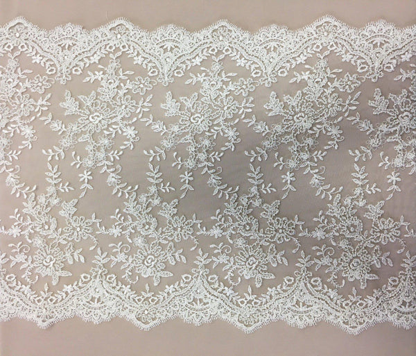 Beaded Lace Trim (1543bt) Ivory