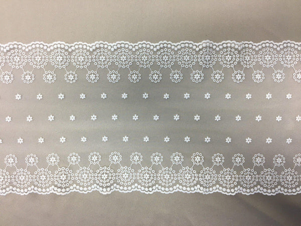 Stretch Lace Trim (1558t) Ivory