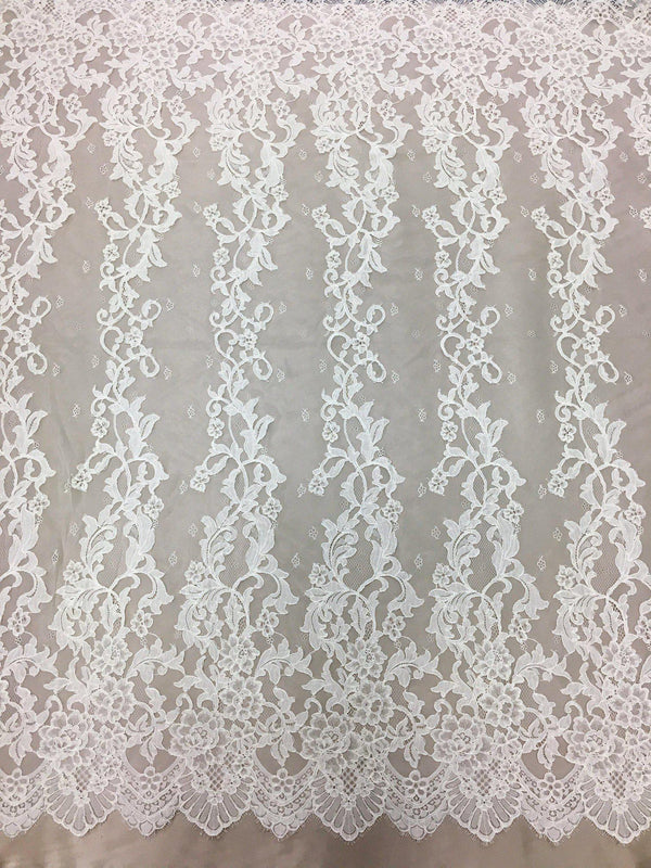 Corded Floral Lace (1575) Ivory