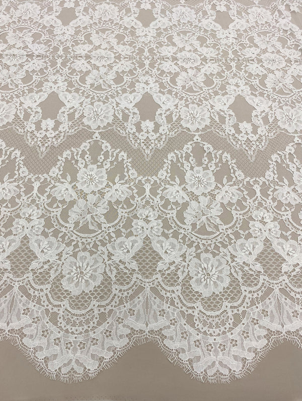 Fine Floral Lace (1581) Ivory