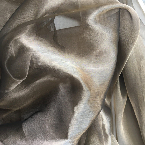 Tissue Organza Plain Black Gold