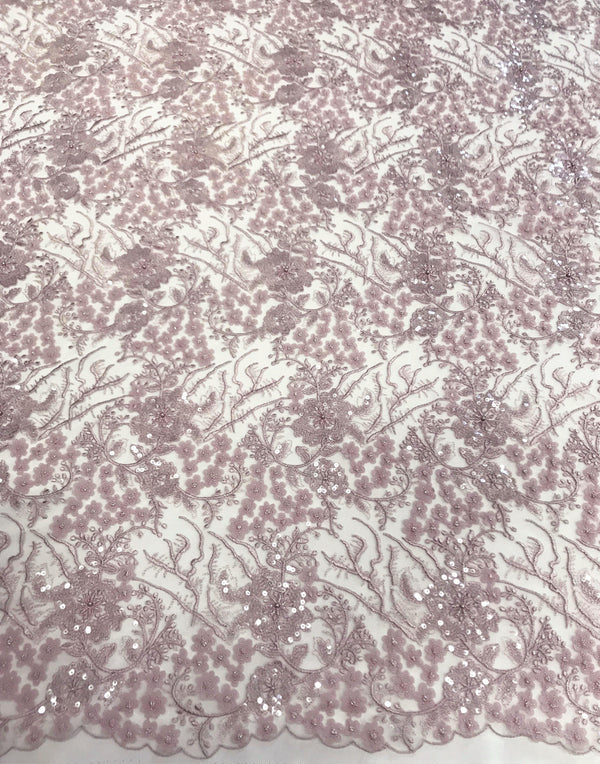 Laser cut embroidery (W31271) Dusty pink
