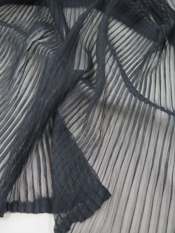 Pleated tulle Black