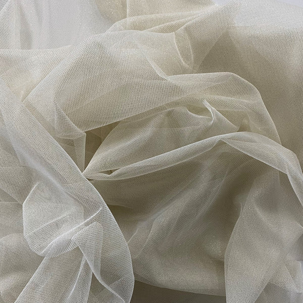 Lurex tulle Cream Gold