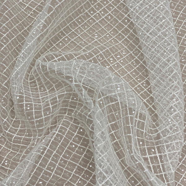 Lattice Tulle (Lv10389) Ivory
