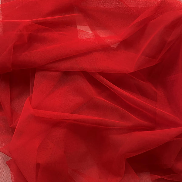 Polyester Tulle Red