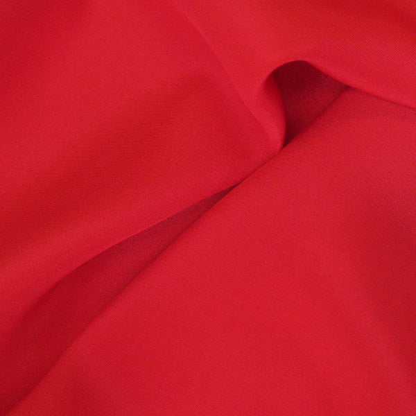 Crepe De Chine Rosa Red