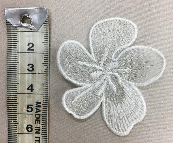 Flower Small Ivory Silver