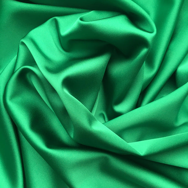 Stretch Polyester Satin Emerald