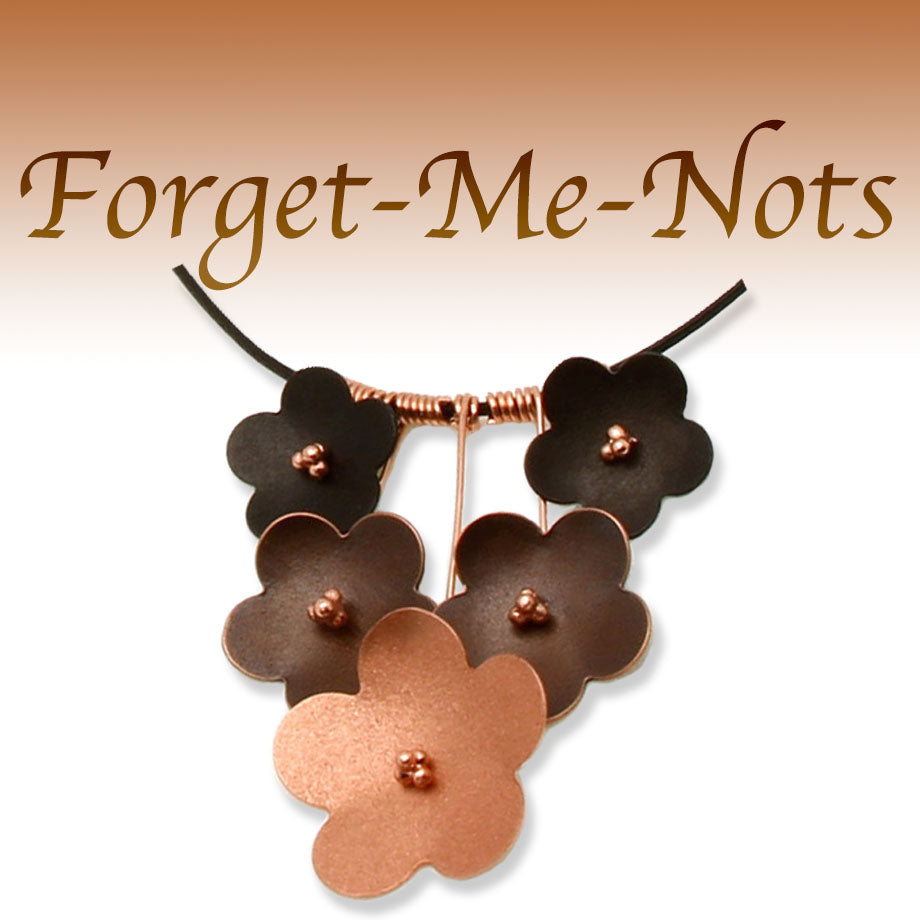 Handmade Forget-Me-Not Necklaces and Earrings
